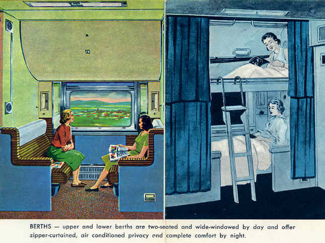 CPR The Canadian sleeping                car section