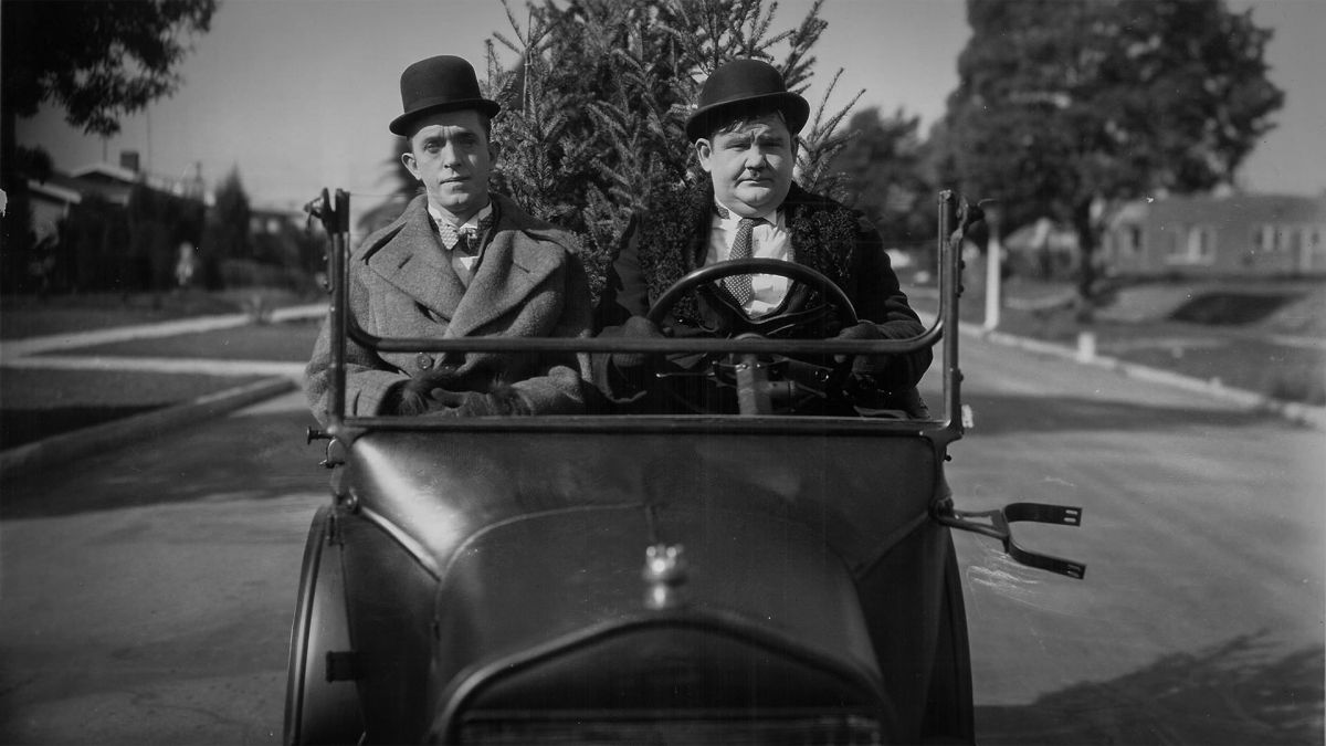 Stan and Oliver in the short Big Business (1929).